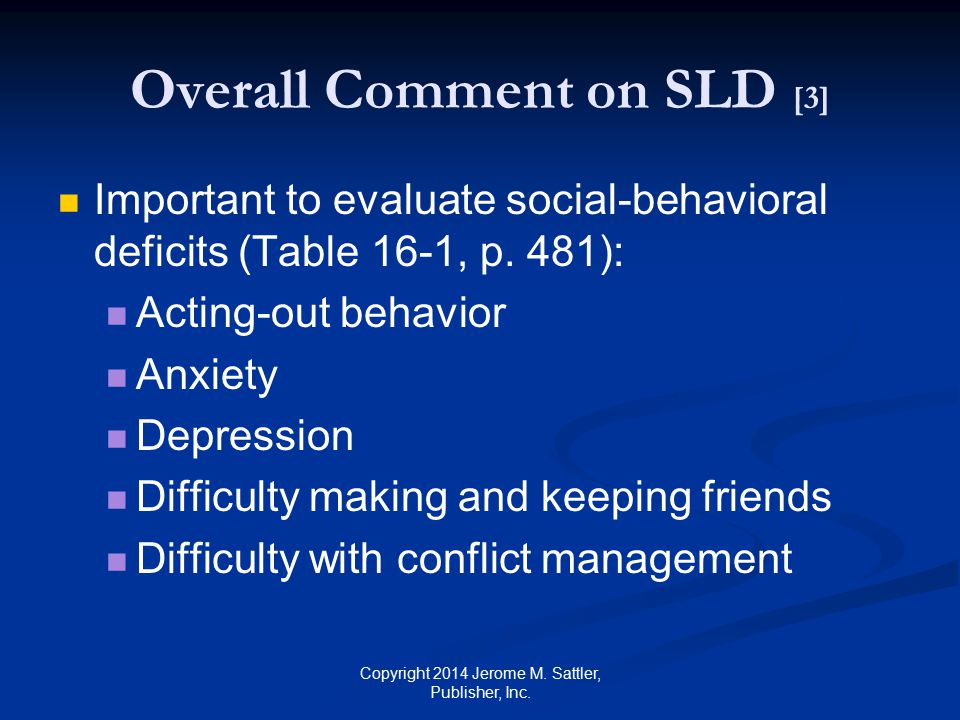 Overall Comment on SLD [3]